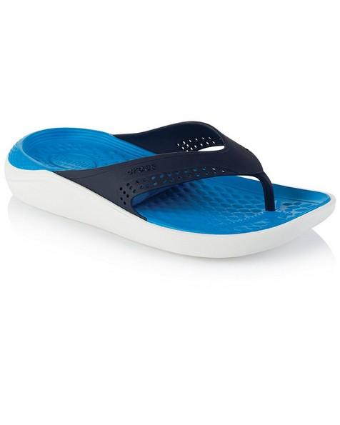 Crocs Men's LiteRide Flip Sandal -  navy-white