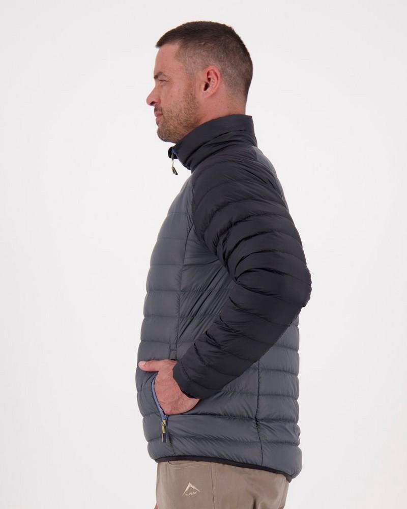 K-Way 40YY Men's Drake Down Jacket -  darkcharcoal-black