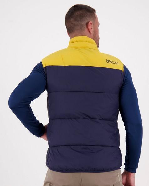K-Way MMXXI Men's Ridge Eco Padded Bodywarmer -  navy-yellow