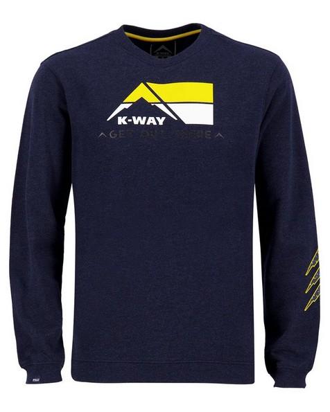 K-Way MMXXI Men's Allan Crew Sweat Top -  navy