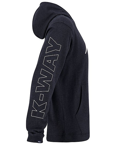 K-Way MMXXI Men's Steve Pullover Hooded Top -  black