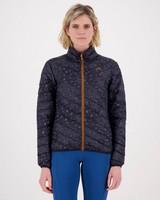 K-Way 40YY Women's Printed Tundra Down Jacket -  graphite-black