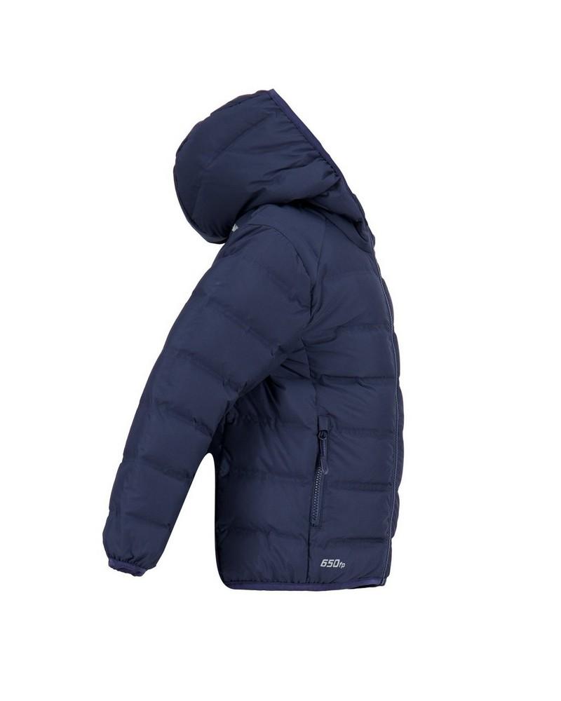 K-Way Kids Aza Re:Down Hooded Jacket -  navy