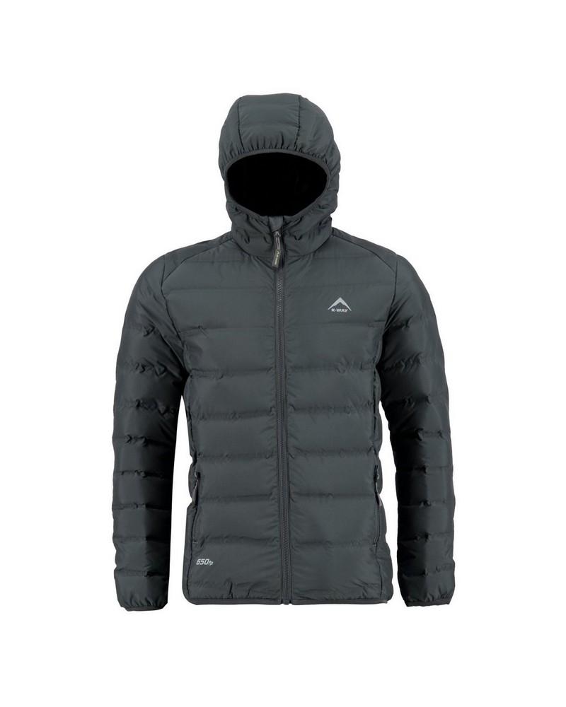 K-Way Boys Aidan Re:Down Hooded Jacket -  graphite