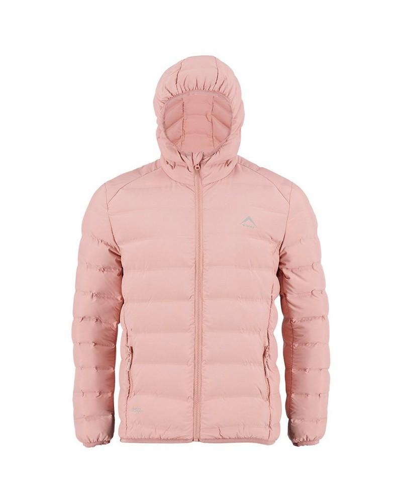 K-Way Girls Aiyana Re:Down Hooded Jacket -  nude
