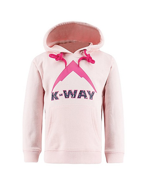 K-Way Kids Kodi Pull-Over Hoody -  lightpink-fuchsia