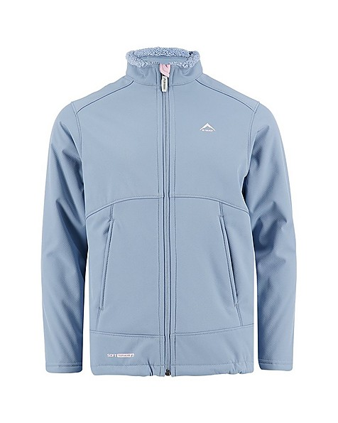 K-Way Youth Girls Lynx 3-Ply Sherpa Softshell Jacket -  cloudblue-lightpink
