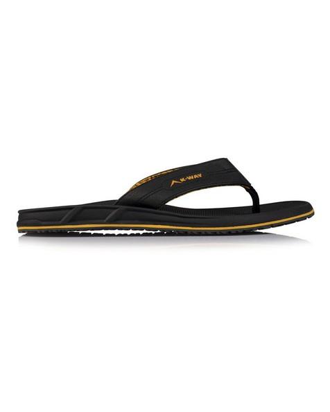K-Way Men's Atlantic Thong -  black-yellow