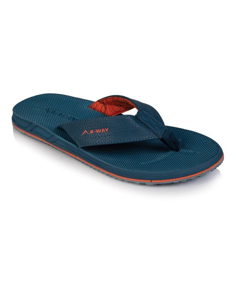 K-Way Men's Atlantic Thong -  blue-orange