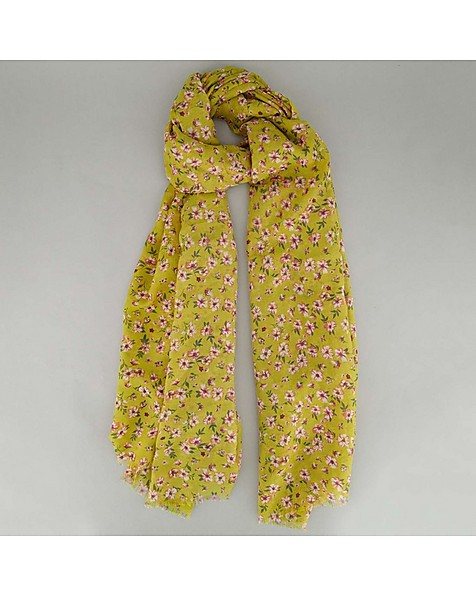 Old Khaki Women's Goldie Ditsy Daisy Scarf -  yellow-pink