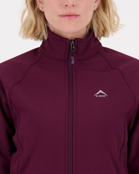 K-Way Mira Women's Eco Softshell Jacket -  plum-black