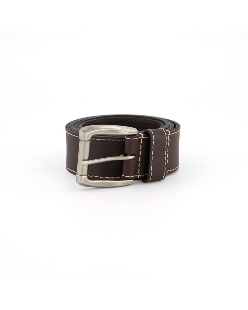 Old Khaki Women's Jewel Feathered Leather Belt -  brown