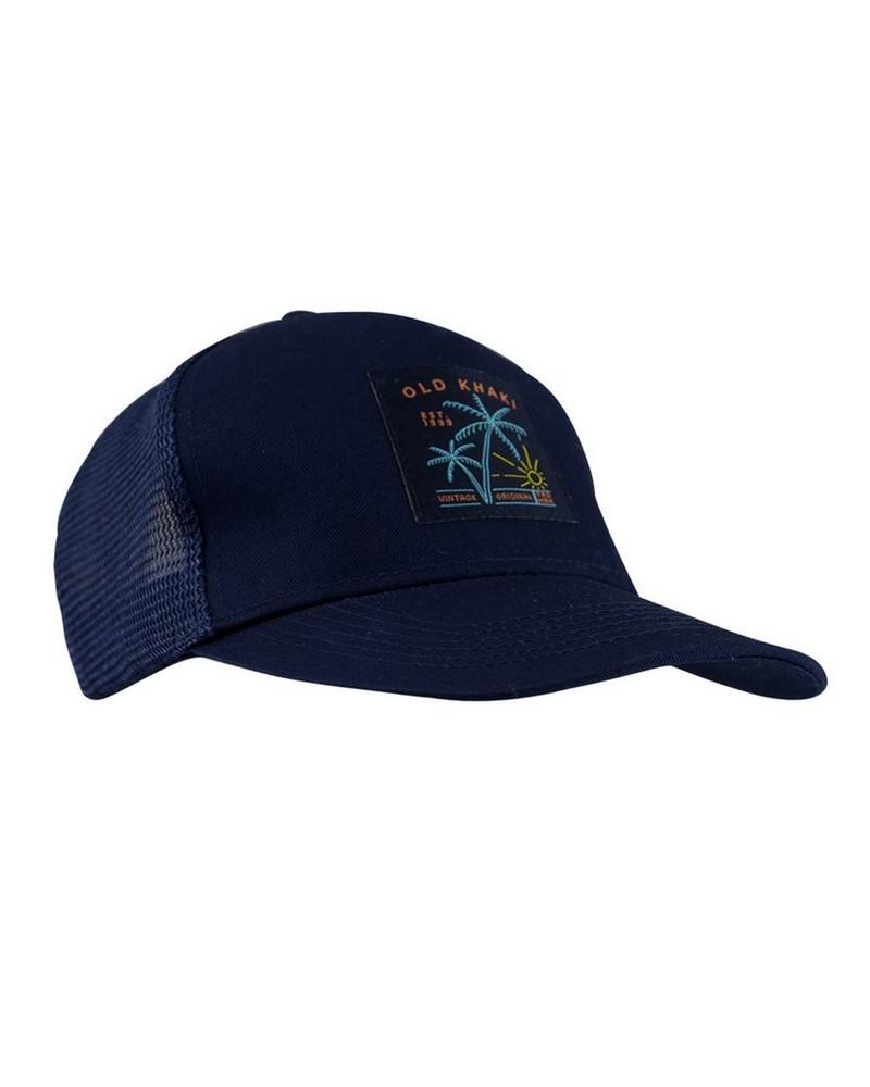 Old Khaki Men's Alessi Island Embroidery Trucker Peak Cap -  navy-coral