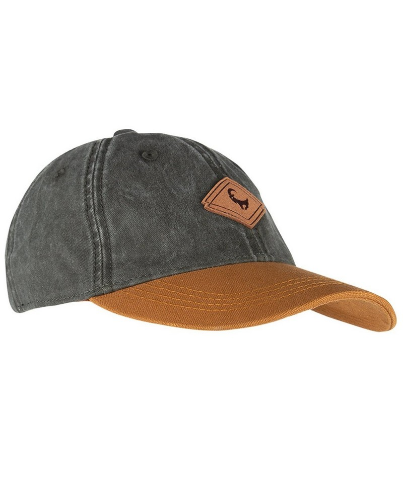 Old Khaki Men's Otto Colourblock Leather Badge Peak Cap -  olive-tan