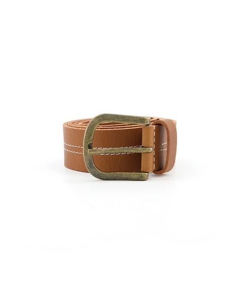 Old Khaki Men's Arthur Modern Double-Stitch Belt -  tan
