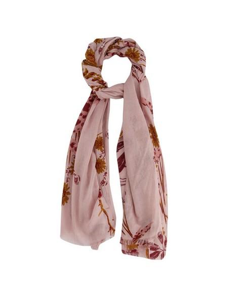 Rare Earth Tessa Floral Cotton Printed Scarf -  pink-burgundy