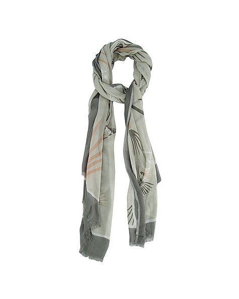 Rare Earth Women's Wray Printed Modal Scarf -  sage-pink