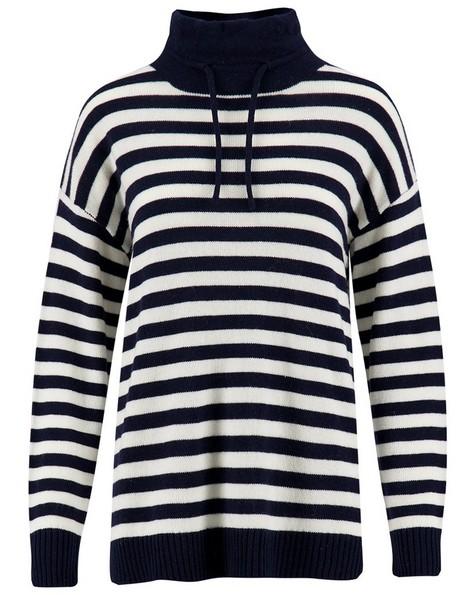 Rare Earth Bedford Stripe Knitwear -  navy
