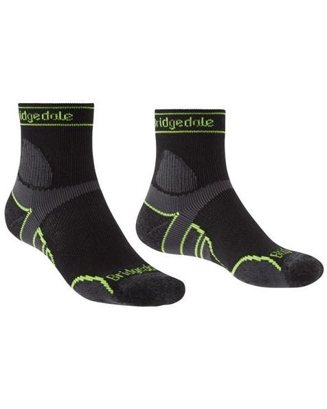 Bridgedale Trail Run Merino Crew  Sock Mens -  black