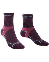 Bridgedale Women's Lightweight T2 Trail Run Merino Crew Sock -  plum