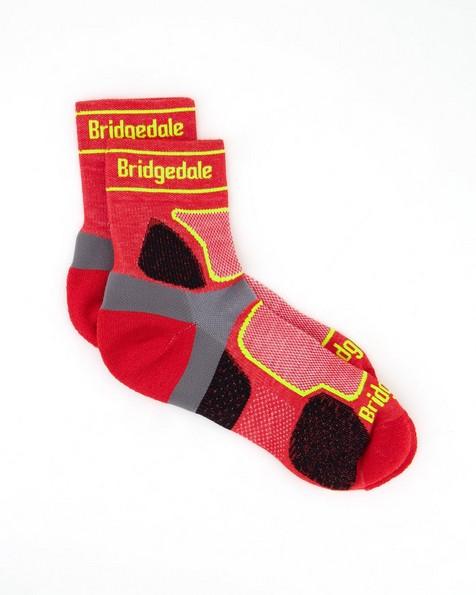 Bridgedale Men's Trail Run Coolmax® Crew Sock -  darkred