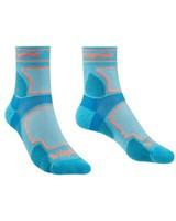 Bridgedale Women's Trail Run Coolmax Crew Sock -  blue