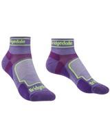 Bridgedale Women's Ultralight T2 Coolmax Sport Low Trail Running Sock -  purple