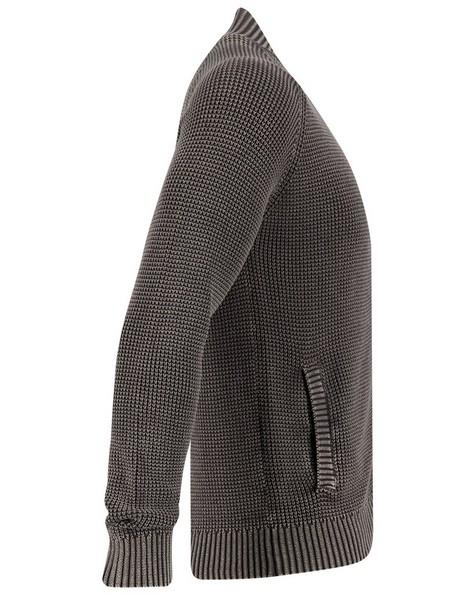 Old Khaki Men's Porter Zip Thru Top -  charcoal