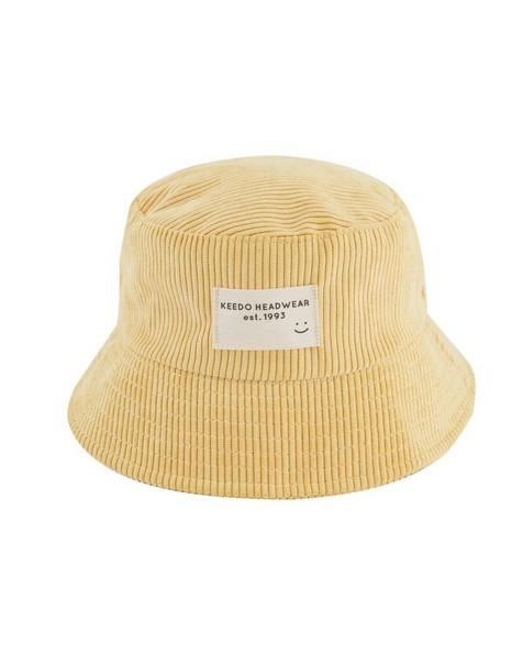Corduroy Bucket Hat -  eggyellow