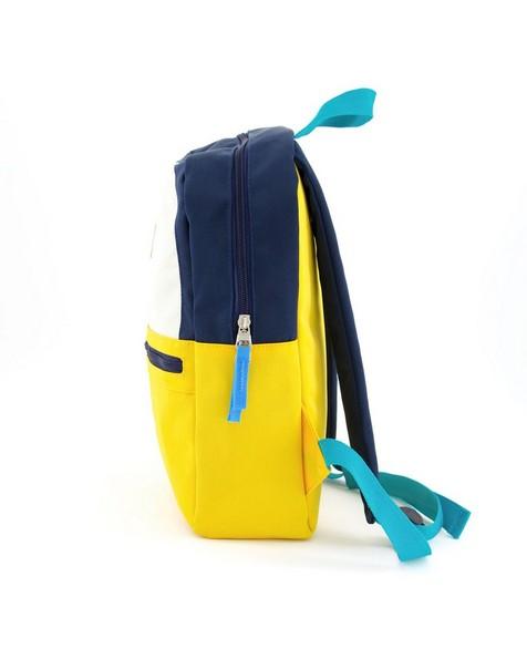 Boys Colourblock Backpack -  navy