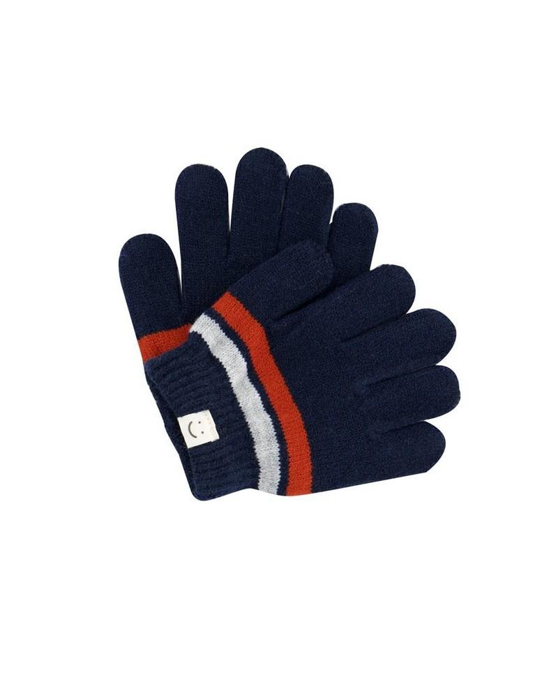 Boys Eric Beanie & Glove Set -  navy