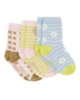 Girls 3-Pack Faye Socks  -  assorted