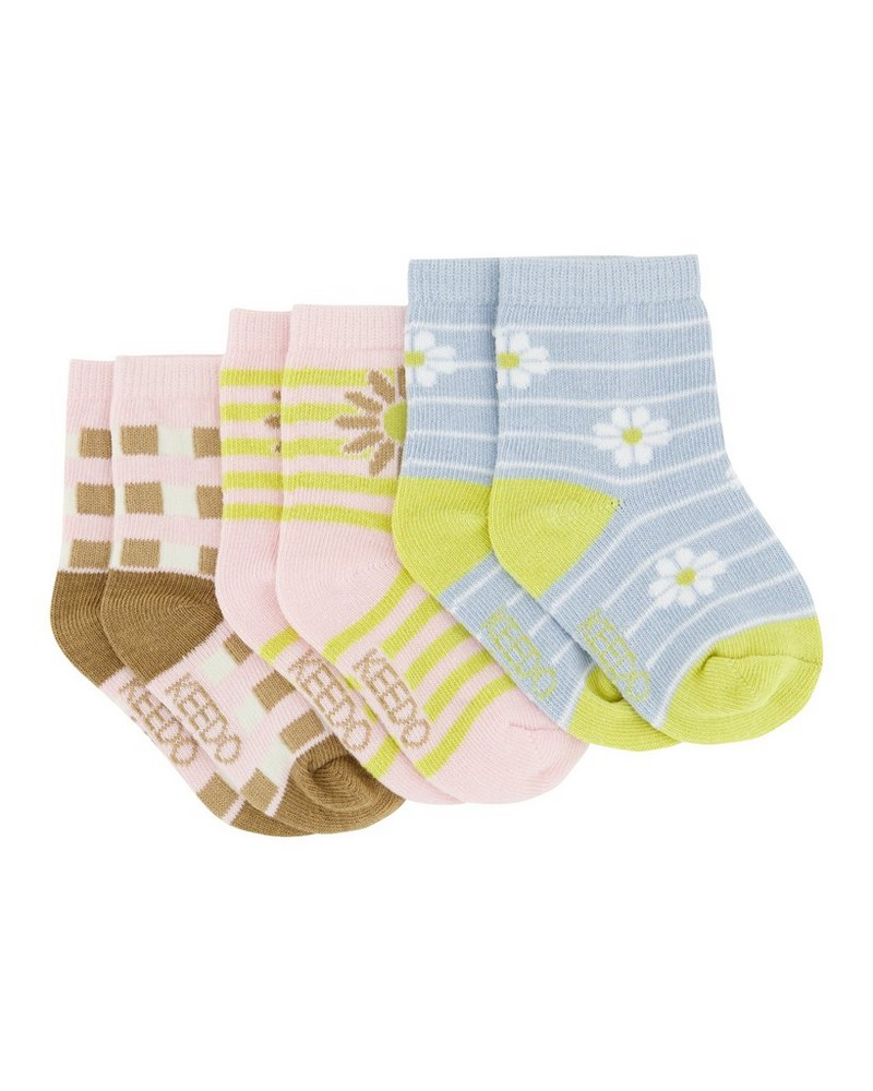 Baby Girls 3-Pack Faye Socks  -  assorted