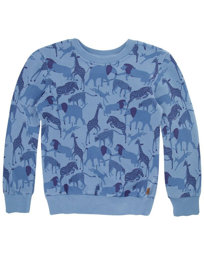 Boys Dylan Sweater -  mid-blue