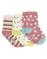 Girls 3-Pack Dakota Socks -  assorted