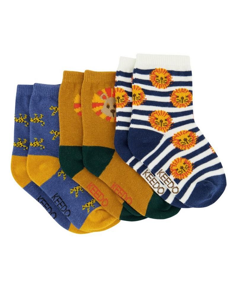 Boys 3-Pack Tucker Socks -  assorted