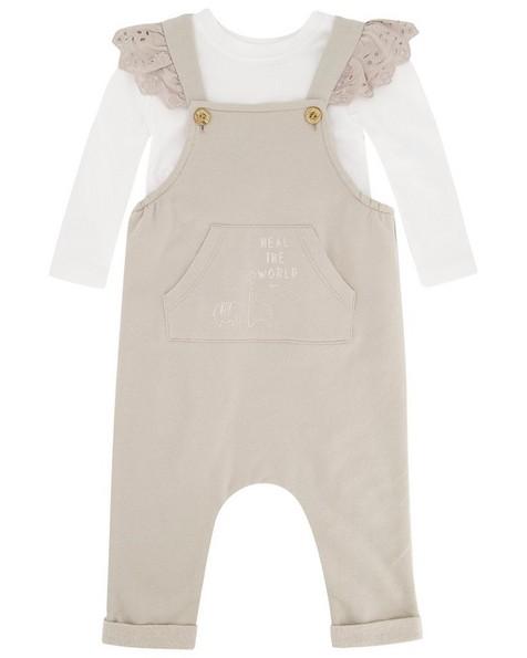 Baby Girls Raven Dungi Set -  grey