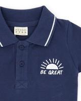 Baby Boys Be Great Golfer -  navy