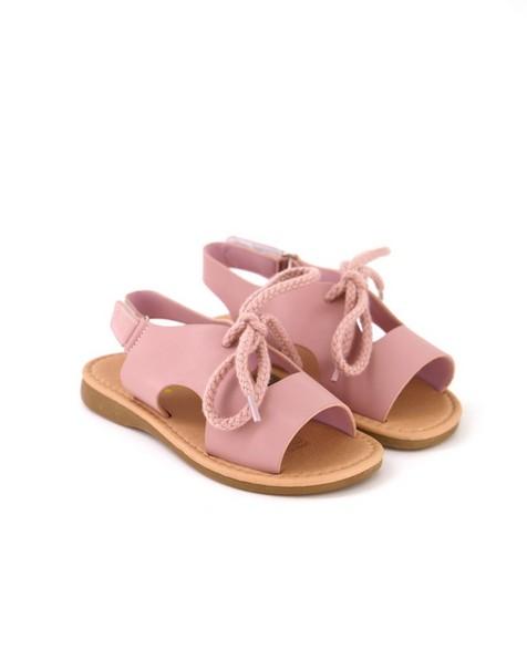 Girls Pink Summer Sandals -  dustypink