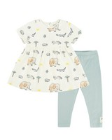 Baby Girls Wilderness Dress Set -  milk