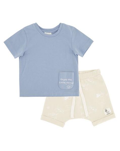 Babies Dusty Sky Shorts Set -  iceblue