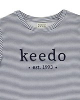 Kids Stripe Logo T-Shirt -  white