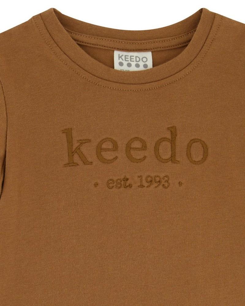 Baby Boys Toffee Logo T-Shirt -  brown