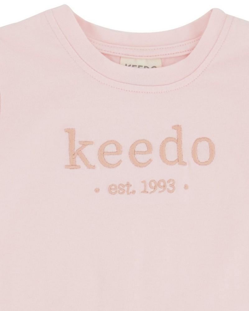 Baby Girls Blush Logo T-Shirt -  lightpink