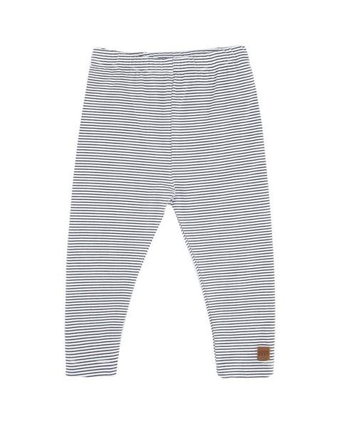 Babies Stripe Logo Leggings -  white