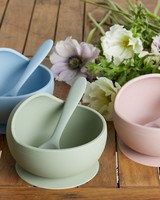 Dusty Pink Silicone Bowl & Spoon Set -  dustypink