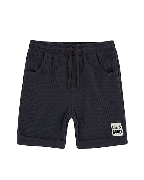 Boys Ash Muslin Shorts -  graphite