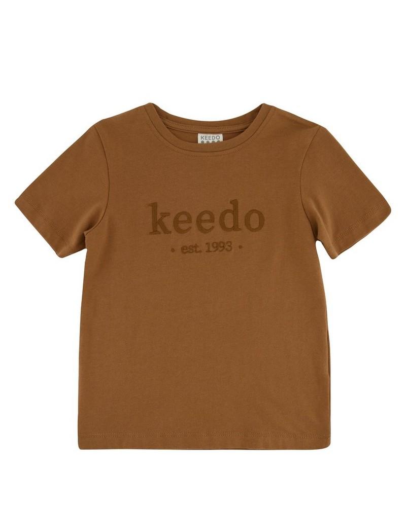 Boys Toffee Logo T-Shirt -  brown