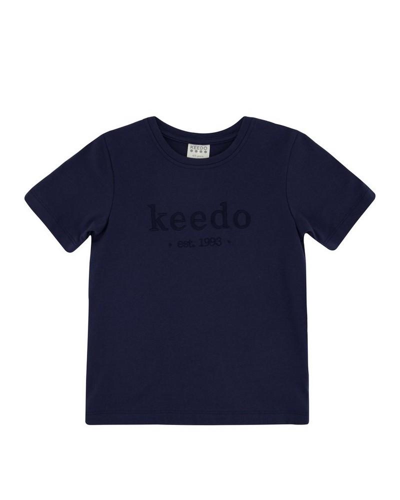 Kids Deep Navy Logo T-Shirt -  navy