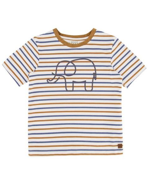 Boys Element Stripe T-Shirt -  white